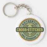 Authentic Cross-stitcher Key Chain
