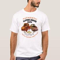 Authentic Custom Classic Patina Antique Trucks - T-Shirt