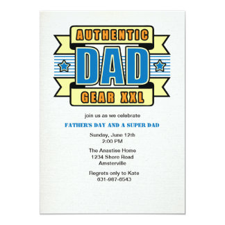 Authentic Dad Father's Day Invitation