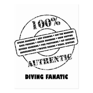 Authentic Diving Fanatic Postcard