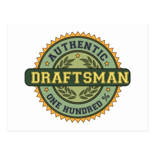 Authentic Draftsman Postcard