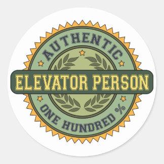 Authentic Elevator Person Classic Round Sticker