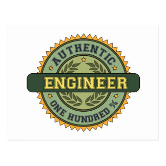 Authentic Engineer Postcard