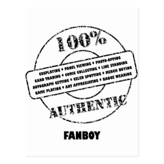 Authentic Fanboy Postcard