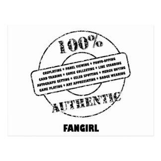 Authentic Fangirl Postcard