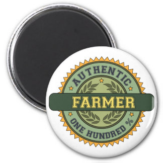 Authentic Farmer 2 Inch Round Magnet