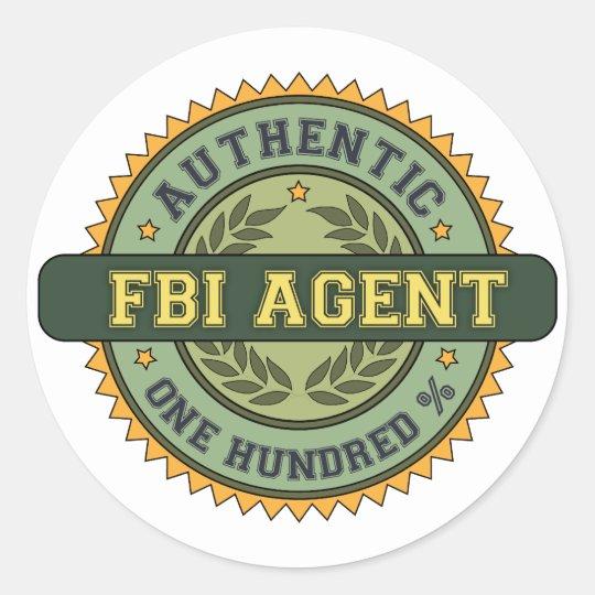 Authentic FBI Agent Classic Round Sticker