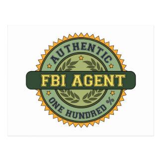 Authentic FBI Agent Postcard