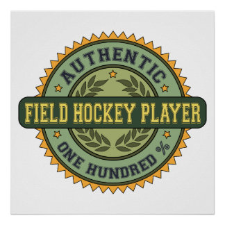 Authentic Field Hockey Player Poster