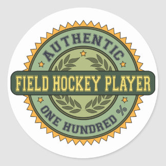 Authentic Field Hockey Player Classic Round Sticker