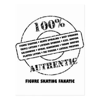 Authentic Figure Skating Fanatic Postcard