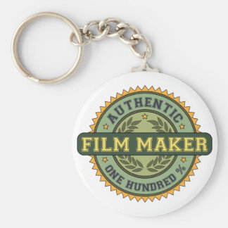 Authentic Film Maker Basic Round Button Keychain