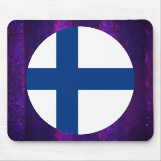 Authentic Finnish Flag Mouse Pad