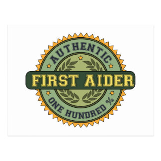 Authentic First Aider Postcards