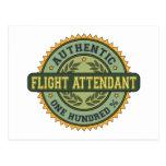 Authentic Flight Attendant Postcard