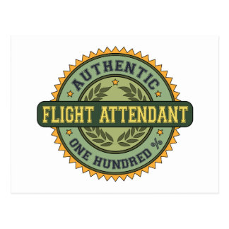 Authentic Flight Attendant Postcard