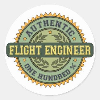 Authentic Flight Engineer Classic Round Sticker