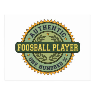 Authentic Foosball Player Postcard