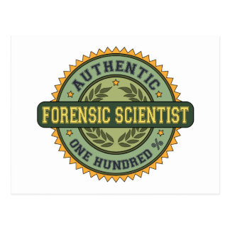 Authentic Forensic Scientist Postcard