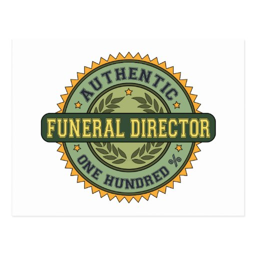 Authentic Funeral Director Postcard