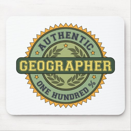 Authentic Geographer Mouse Pad