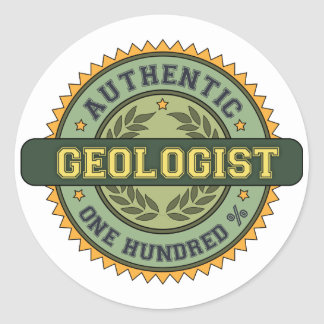Authentic Geologist Classic Round Sticker