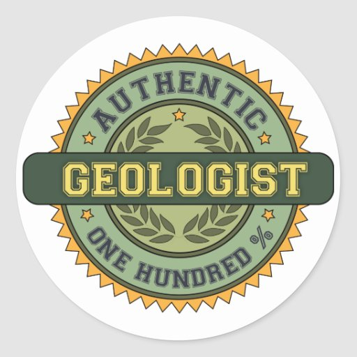 Authentic Geologist Stickers