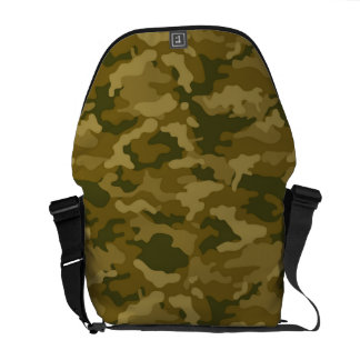 Authentic Green Army Military Camo Camouflage Courier Bag