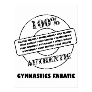 Authentic Gymnastics Fanatic Postcard