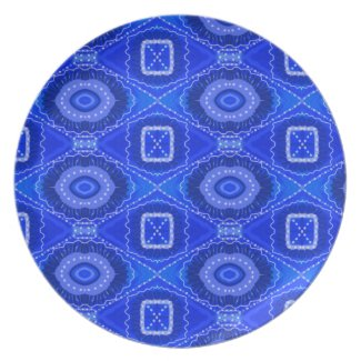 Authentic Gypsy Medallion Art Melamine Plate