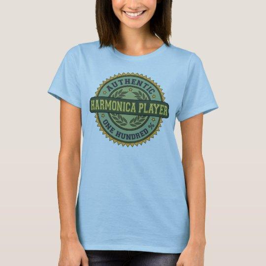 Authentic Harmonica Player T-Shirt