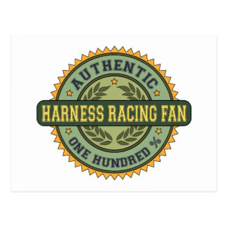 Authentic Harness Racing Fan Postcards