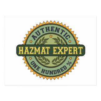 Authentic Hazmat Expert Postcard