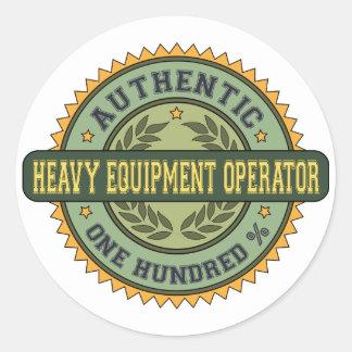Authentic Heavy Equipment Operator Classic Round Sticker