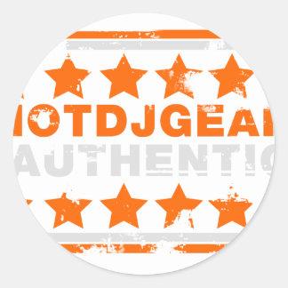 Authentic Hotdjgear Classic Round Sticker