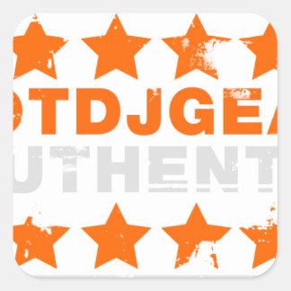 Authentic Hotdjgear Square Sticker