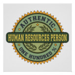 Authentic Human Resources Person Poster