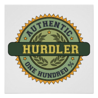 Authentic Hurdler Poster
