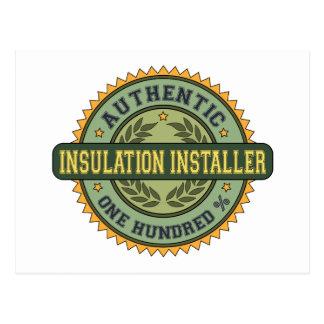 Authentic Insulation Installer Postcards