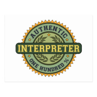 Authentic Interpreter Postcard