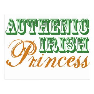 Authentic Irish Princess Postcard