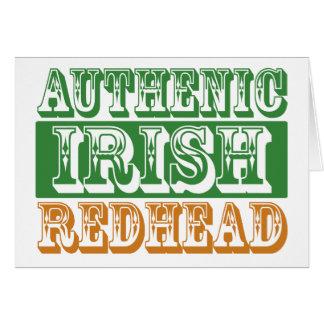 Authentic Irish Redhead Card