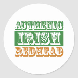 Authentic Irish Redhead Classic Round Sticker