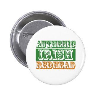 Authentic Irish Redhead Pinback Button