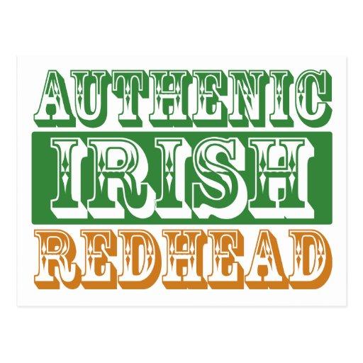 Authentic Irish Redhead Postcard