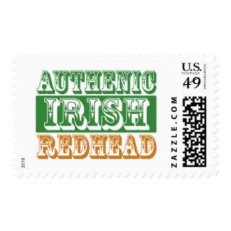Authentic Irish Redhead Stamp