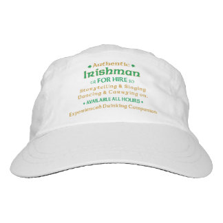 Authentic Irishman For Hire Funny Headsweats Hat