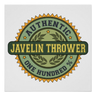 Authentic Javelin Thrower Poster