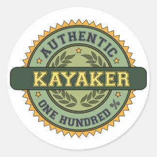 Authentic Kayaker Classic Round Sticker