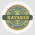 Authentic Kayaker Stickers